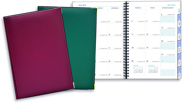 Corporate Planner Quality PVC Maroon & Green